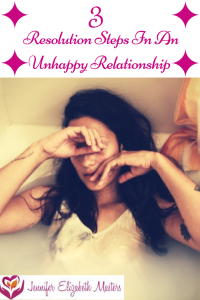 3 Resolution steps In and unhappy relationship